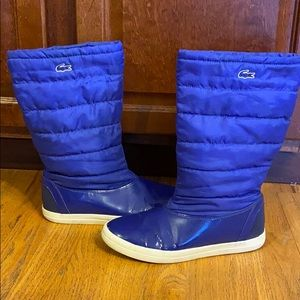 Lacoste Winter Snow Rain Boots Size 7 Waterproof